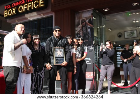 LOS ANGELES - JAN 21:  Simone Smith, LL Cool J, Family at the LL Cool J Hollywood Walk of Fame Ceremony at the Hollywood and Highland on January 21, 2016 in Los Angeles, CA - stock photo