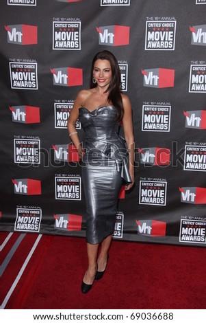 LOS ANGELES - JAN 14: Sofia Vergara arrives at the 16th Annual Critics' Choice Movie Awards at Hollywood Palladium on January 14, 2011 in Los Angeles, CA - stock photo