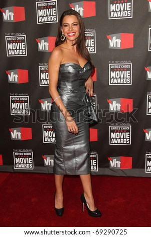 "LOS ANGELES - JAN 14:  Sofia Vergara arrives at the 16th Annual ""Critics"" Choice Movie Awards  on January 14, 2011 in Los Angeles, CA - stock photo"