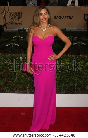 LOS ANGELES - JAN 30:  Sofia Vergara at the 22nd Screen Actors Guild Awards at the Shrine Auditorium on January 30, 2016 in Los Angeles, CA - stock photo