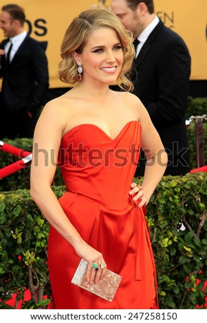 LOS ANGELES - JAN 25:  Sophia Bush at the 2015 Screen Actor Guild Awards at the Shrine Auditorium on January 25, 2015 in Los Angeles, CA - stock photo