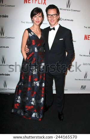 LOS ANGELES - JAN 11:  Sophie Hunter, Benedict Cumberbatch at the The Weinstein Company / Netflix Golden Globes After Party at a Beverly Hilton Adjacent on January 11, 2015 in Beverly Hills, CA - stock photo
