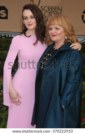 LOS ANGELES - JAN 30:  Sophie McShera, Lesley Nicol at the 22nd Screen Actors Guild Awards at the Shrine Auditorium on January 30, 2016 in Los Angeles, CA - stock photo