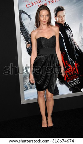 LOS ANGELES - JAN 24 - Stephanie Corneliussen arrives at the Hansel and Gretel Witch Hunters Los Angeles Premiere on January 24, 2013 in Hollywood, CA              - stock photo