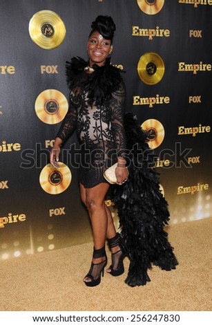 "LOS ANGELES - JAN 06:  Ta'Rhonda Jones arrives to the ""Empire"" Los Angeles Premiere  on January 6, 2015 in Hollywood, CA                 - stock photo"