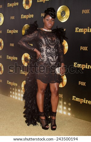"LOS ANGELES - JAN 6:  Ta'Rhonda Jones at the FOX TV ""Empire"" Premiere Event at a ArcLight Cinerama Dome Theater on January 6, 2014 in Los Angeles, CA - stock photo"