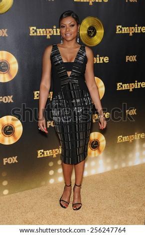 "LOS ANGELES - JAN 06:  Taraji P. Henson arrives to the ""Empire"" Los Angeles Premiere  on January 6, 2015 in Hollywood, CA                 - stock photo"