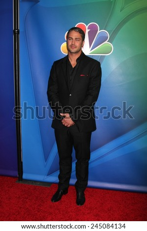 LOS ANGELES - JAN 16:  Taylor Kinney at the NBCUniversal TCA Press Tour at the Huntington Langham Hotel on January 16, 2015 in Pasadena, CA - stock photo