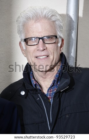 LOS ANGELES - JAN 23: Ted Danson at a ceremony where Marg Helgenberger is honored with a star on the Hollywood Walk of Fame on January 23, 2012 in Los Angeles, California