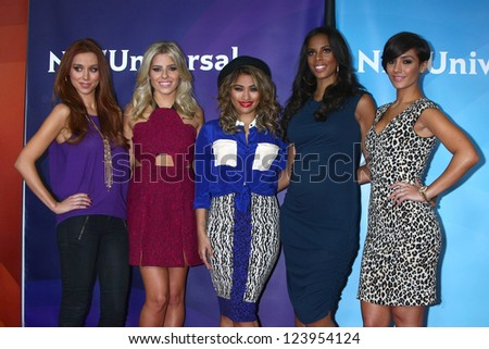 LOS ANGELES - JAN 7:  The Saturdays' attends the NBCUniversal 2013 TCA Winter Press Tour at Langham Huntington Hotel on January 7, 2013 in Pasadena, CA - stock photo