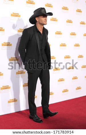 LOS ANGELES - JAN 14:  Tim McGraw at the 50th Sports Illustrated Swimsuit Issue at Dolby Theatre on January 14, 2014 in Los Angeles, CA - stock photo