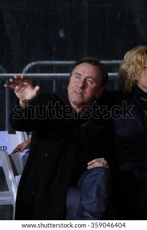 LOS ANGELES - JAN 5: Tim Roth at a ceremony as Quentin Tarantino is honored with hand & footprints at the TCL Chinese Theatre IMAX on January 5, 2016 in Los Angeles, CA - stock photo