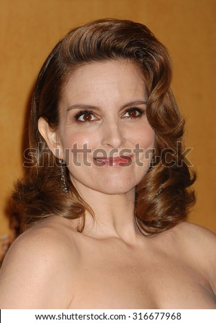 LOS ANGELES - JAN 27 - Tina Fey arrives at the 19th Annual Screen Actors Guild Awards Press Room  on January 27, 2013 in Los Angeles, CA              - stock photo
