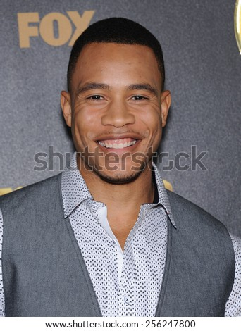 "LOS ANGELES - JAN 06:  Trai Byers arrives to the ""Empire"" Los Angeles Premiere  on January 6, 2015 in Hollywood, CA                 - stock photo"