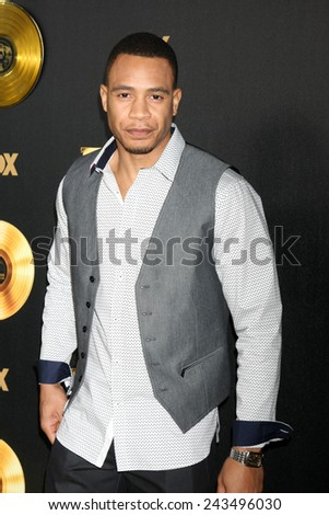 "LOS ANGELES - JAN 6:  Trai Byers at the FOX TV ""Empire"" Premiere Event at a ArcLight Cinerama Dome Theater on January 6, 2014 in Los Angeles, CA - stock photo"