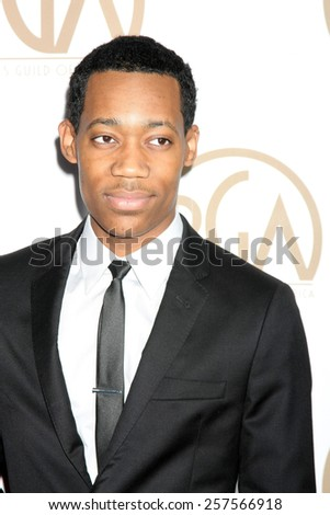 LOS ANGELES - JAN 24:  Tyler James Williams at the Producers Guild of America Awards 2015 at a Century Plaza Hotel on January 24, 2015 in Century City, CA - stock photo