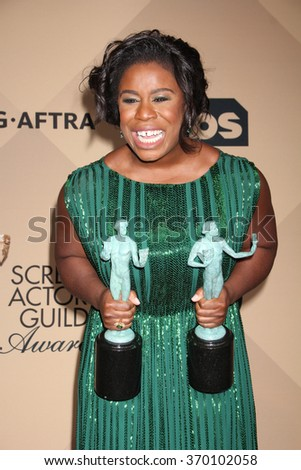 LOS ANGELES - JAN 30:  Uzo Aduba at the 22nd Screen Actors Guild Awards at the Shrine Auditorium on January 30, 2016 in Los Angeles, CA - stock photo