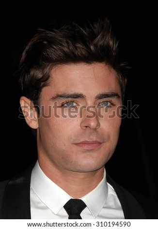 LOS ANGELES - JAN 27:  Zac Efron arrives at the That Awkward Moment Los Angeles Premiere  on January 27, 2014 in Los Angeles, CA                 - stock photo