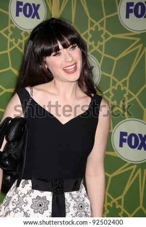 LOS ANGELES - JAN 8:  Zooey Deschanel arrives at the Fox TCA Party - Winter 2012 at Castle Green on January 8, 2012 in Pasadena, CA