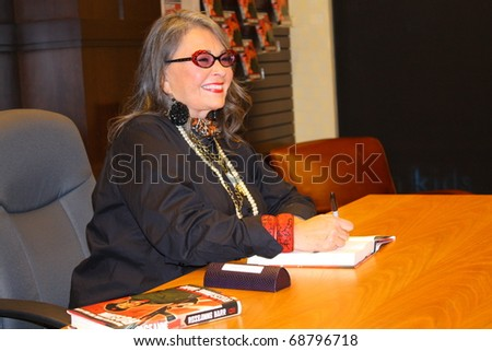 "LOS ANGELES - JANUARY 10: Comedian Roseanne Barr at book signing for her autobiography ""Roseannearchy"" at The Grove on January 10, 2011 in Los Angeles. CA. - stock photo"