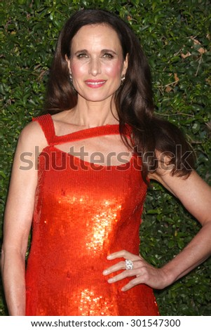 LOS ANGELES - JUL 29:  Andie MacDowell at the Hallmark 2015 TCA Summer Press Tour Party at the Private Residence on July 29, 2015 in Beverly Hills, CA