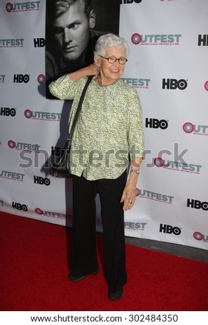 "LOS ANGELES - JUL 11:  Betty DeGeneres at the ""Tab Hunter Confidential"" at Outfest at the Directors Guild of America on July 11, 2015 in Los Angeles, CA - stock photo"