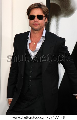 "LOS ANGELES - JUL 19:  Brad Pitt  arrives at the ""Salt"" Premiere at Grauman's Chinese Theater on July19, 2010 in Los Angeles, CA ...."