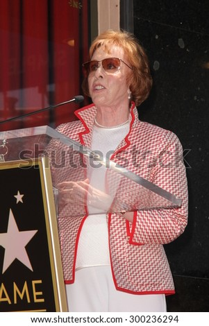 LOS ANGELES - JUL 24:  Carol Burnett at the Kristin Chenoweth Hollywood Walk of Fame Star Ceremony at the Hollywood Blvd on July 24, 2015 in Los Angeles, CA - stock photo
