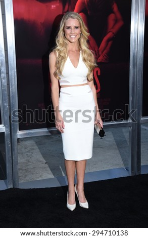 "LOS ANGELES - JUL 07:  Cassidy Gifford arrives to the ""The Gallows"" Los Angeles Premiere  on July 07, 2015 in Hollywood, CA                 - stock photo"