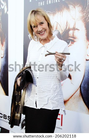 LOS ANGELES - JUL 16:  Catherine E. Coulson at the 'Twin Peaks - The Entire Mystery' Blu-Ray/DVD Release Party And Screening at the Vista Theater on July 16, 2014 in Los Angeles, CA - stock photo