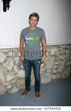 LOS ANGELES - JUL 27:  Chad Duell arrives at the 2013 General Hospital Fan Club Luncheon  at the Sportsman's Lodge on July 27, 2013 in Studio City, CA - stock photo