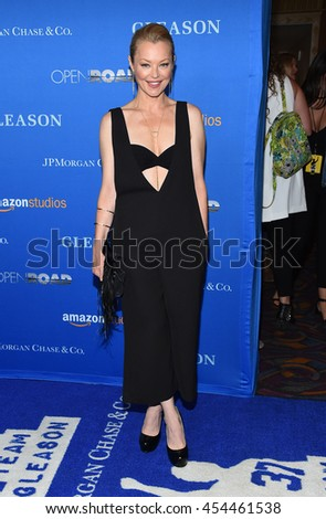 """LOS ANGELES - JUL 14:  Charlotte Ross arrives to the """"Gleason"""" Los Angeles Premiere on July 14, 2016 in Los Angeles, CA                 - stock photo"""