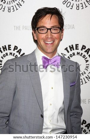 """LOS ANGELES - JUL 16:  Dan Bucatinsky arrives at  """"An Evening With Web Therapy: The Craze Continues..."""" at the Paley Center for Media on July 16, 2013 in Beverly Hills, CA - stock photo"""