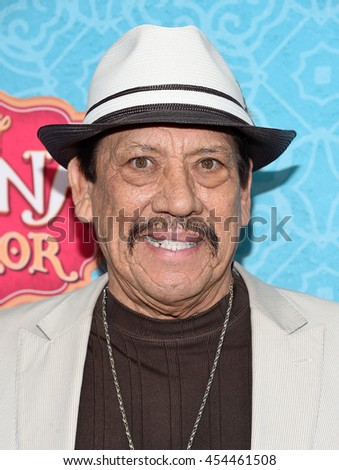 """LOS ANGELES - JUL 16:  Danny Trejo arrives to the Disney Channel's """"Elena of Avalor"""" Los Angeles Premiere on July 16, 2016 in Beverly Hills, CA                 - stock photo"""