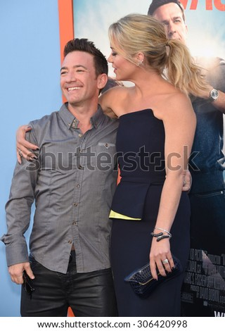 "LOS ANGELES - JUL 27:  David Faustino &  Christina Applegate arrives to the ""Vacation"" Los Angeles Premiere  on July 27, 2015 in Westwood, CA                 - stock photo"