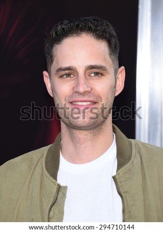 "LOS ANGELES - JUL 07:  Dean Schnider arrives to the ""The Gallows"" Los Angeles Premiere  on July 07, 2015 in Hollywood, CA                 - stock photo"