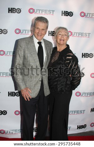 """LOS ANGELES - JUL 11:  Don Murray, Betty Murray at the """"Tab Hunter Confidential"""" at Outfest at the Directors Guild of America on July 11, 2015 in Los Angeles, CA - stock photo"""