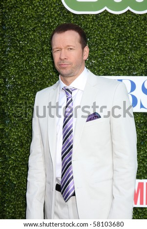 LOS ANGELES - JUL 28:  Donnie Wahlberg arrives at the 2010 CBS, The CW, Showtime Summer Press Tour Party  at The Tent Adjacent to Beverly Hilton Hotel on July 28, 2010 in Beverly Hills, CA ...