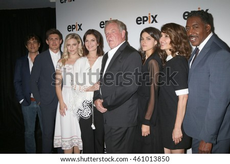 "LOS ANGELES - JUL 30:  ""Graves"" Cast at the EPIX Television Critics Association Tour Photo Line at the Beverly Hilton Hotel on July 30, 2016 in Beverly Hills, CA"