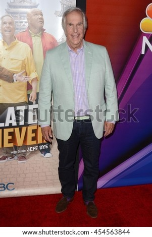 "LOS ANGELES - JUL 18:  Henry Winkler at the ""Better Late Than Never"" Premiere Press Screening at Universal Studios on July 18, 2016 in Universal City, CA"
