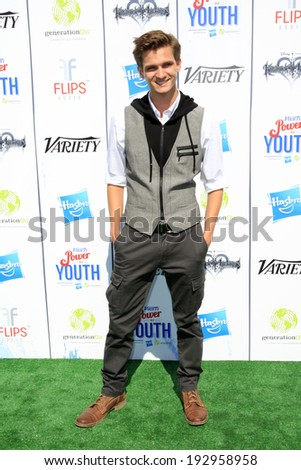 LOS ANGELES - JUL 27:  Hunter Gomez at the Variety's Power of Youth  at Universal Studios Backlot on July 27, 2013 in Los Angeles, CA - stock photo