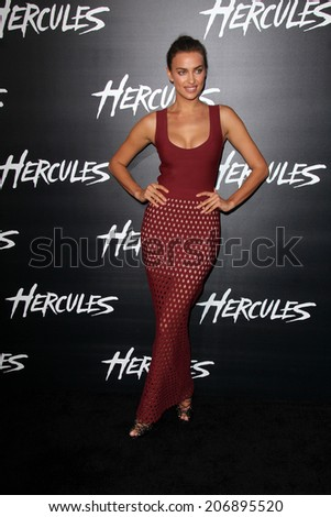 "LOS ANGELES - JUL 23:  Irina Shayk at the ""Hercules"" Los Angeles Premiere at the TCL Chinese Theater on July 23, 2014 in Los Angeles, CA"