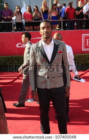 LOS ANGELES - JUL 11:  J.R. Smith arrives at the 2012 ESPY Awards at Nokia Theater at LA Live on July 11, 2012 in Los Angeles, CA