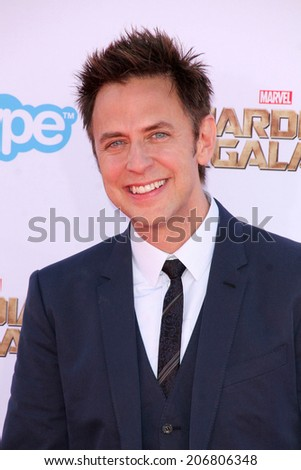 "LOS ANGELES - JUL 21:  James Gunn at the ""Guardians Of The Galaxy"" Premiere at the Dolby Theater on July 21, 2014 in Los Angeles, CA - stock photo"