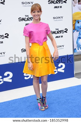 "LOS ANGELES - JUL 28:  Jayma Mays arrives to the ""The Smurfs 2"" Los Angeles Premiere  on July 28, 2013 in Westwood, CA"