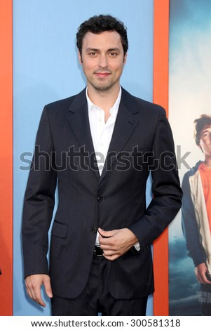 """LOS ANGELES - JUL 27:  John Francis Daley at the """"Vacation"""" Premiere at the Village Theater on July 27, 2015 in Westwood, CA - stock photo"""