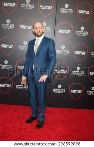 LOS ANGELES - JUL 14:  Jon Cryer at the Warner Bros. Studio Tour Hollywood Expansion Official Unveiling, Stage 48: Script To Screen at the Warner Brothers Studio on July 14, 2015 in Burbank, CA - stock photo