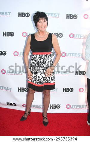 """LOS ANGELES - JUL 11:  Joyce DeWitt at the """"Tab Hunter Confidential"""" at Outfest at the Directors Guild of America on July 11, 2015 in Los Angeles, CA - stock photo"""