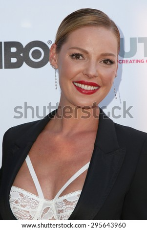 "LOS ANGELES - JUL 10:  Katherine Heigl at the ""Jenny's Wedding"" Premiere at Outfest at the Directors Guild of America on July 10, 2015 in Los Angeles, CA - stock photo"