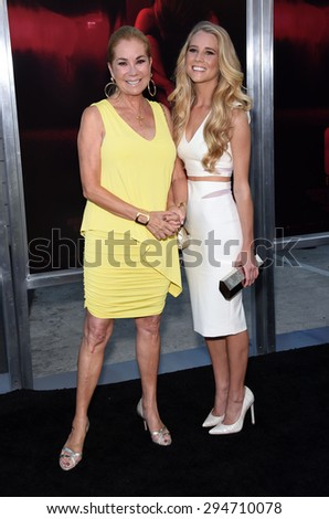 """LOS ANGELES - JUL 07:  Kathie Lee Gifford & Cassidy Gifford arrives to the """"The Gallows"""" Los Angeles Premiere  on July 07, 2015 in Hollywood, CA                 - stock photo"""